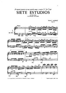 Seven Etudes, Op.65: set completo by Isaac Albéniz