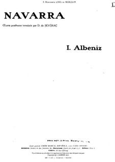 Navarra: Para Piano by Isaac Albéniz