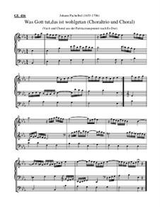 Was Gott tut, das ist wohlgetan (Choralvorspiel, Es-Dur): Was Gott tut, das ist wohlgetan (Choralvorspiel, Es-Dur) by Johann Pachelbel