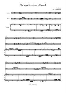 Hatikvah (With Hope): para violino,viola e piano by folklore