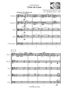 No.3 Clair de lune: Para quinteto de cordas by Claude Debussy