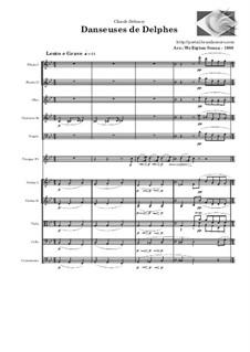 No.1 Danseuses de Delphes: para orquestra de camara by Claude Debussy