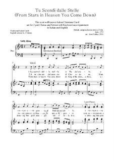 Tu scendi dalle stelle: SA & keyboard by Alphonsus Maria de Liguori