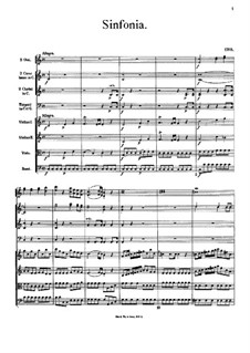 Symphony in C Major: partitura completa by Johann Georg Albrechtsberger