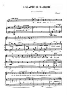 Werther: Les Larmes de Charlotte by Jules Massenet