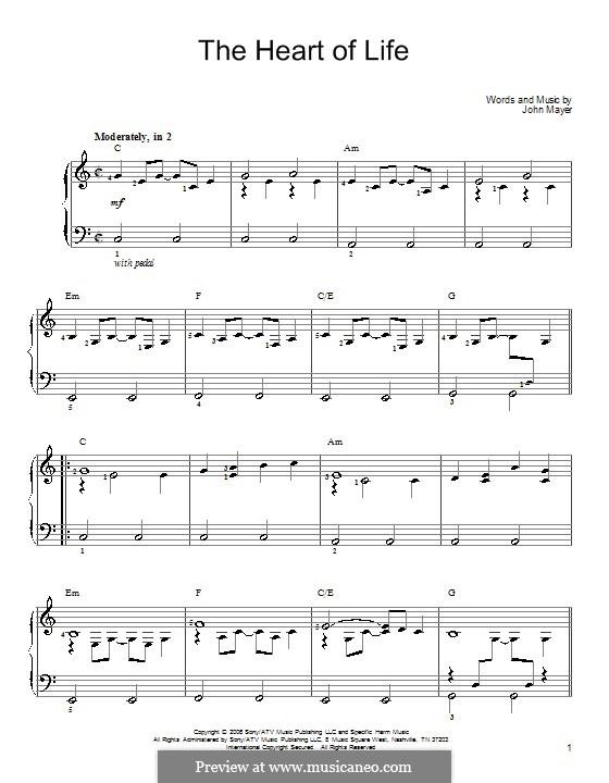 The Heart of Life: Para Piano by John Mayer