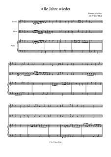 Alle Jahre wieder: para viola e piano by Friedrich Silcher