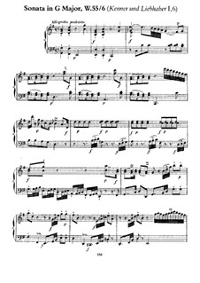Collection I, Wq 55: Sonata No.3 in G Major by Carl Philipp Emanuel Bach
