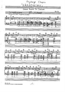 Rondo à la Krakowiak, Op.14: For two pianos four hands – second part by Frédéric Chopin