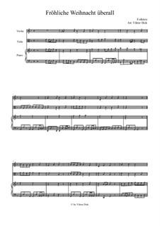 Fröhliche Weihnacht überall: para viola e piano by folklore