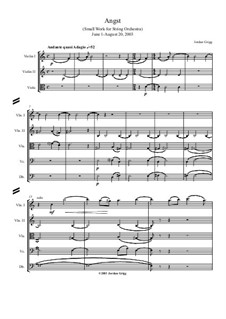 Angst for String Orchestra: Angst for String Orchestra by Jordan Grigg