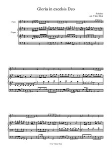 Gloria in Excelsis Deo: Para flauta e ógão by folklore