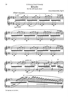 Etude for the Left Hand, Op.36: para um único musico (Editado por H. Bulow) by Felix Blumenfeld