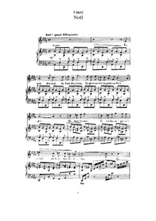 Two Songs, Op.43: No.1 Noël (A Flat Major) by Gabriel Fauré