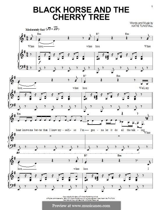 Black Horse and the Cherry Tree: Para vocais e piano by KT Tunstall
