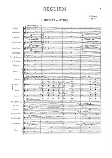 Requiem in D Minor, Op.48: Partitura completa by Gabriel Fauré