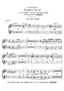 Requiem in D Minor, Op.48: parte flauta by Gabriel Fauré