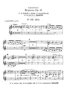 Requiem in D Minor, Op.48: parte clarinetes by Gabriel Fauré