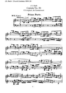 O Ewigkeit, du Donnerwort, BWV 20: Partitura Piano-vocal by Johann Sebastian Bach