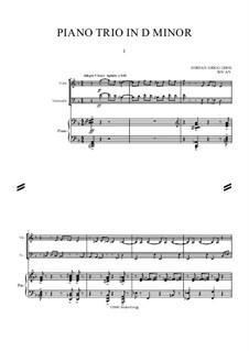 Piano Trio: Trio de piano by Jordan Grigg