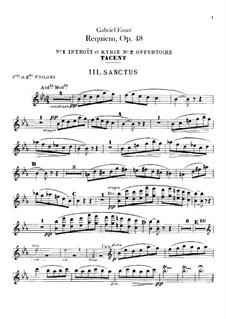 Requiem in D Minor, Op.48: parte violinos by Gabriel Fauré