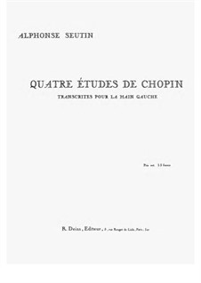 Four Etudes. Transcription for the left Hand, Op.10, 25: Four Etudes. Transcription for the left Hand by Frédéric Chopin