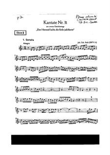 Der Himmel lacht! Die Erde jubilieret, BWV 31: Oboe parte II by Johann Sebastian Bach