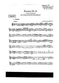 Der Himmel lacht! Die Erde jubilieret, BWV 31: Oboe III part by Johann Sebastian Bach
