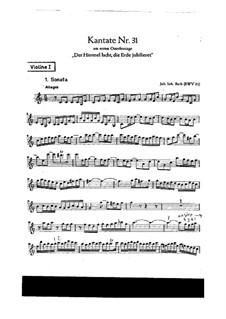 Der Himmel lacht! Die Erde jubilieret, BWV 31: violino parte I by Johann Sebastian Bach