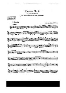 Der Himmel lacht! Die Erde jubilieret, BWV 31: violino parte II by Johann Sebastian Bach