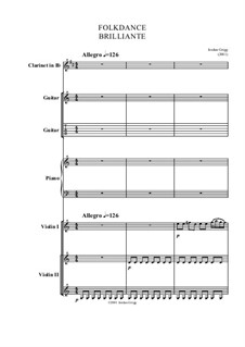 Folkdance Brilliante: For student ensemble by Jordan Grigg