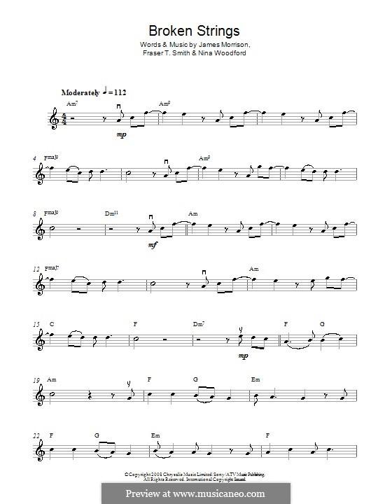Broken Strings (James Morrison feat. Nelly Furtado): para violino by Fraser T. Smith, James Morrison, Nina Woodford
