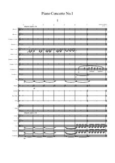 Piano Concerto No.1: piano de concerto No 1 by Jordan Grigg