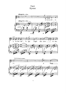 Three Songs, Op.7: No.2 Hymne (Hymn) by Gabriel Fauré