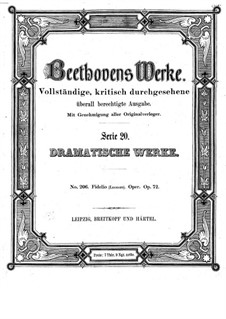 Complete Opera: Full score (second version) by Ludwig van Beethoven