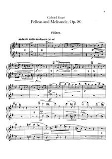 Pelléas et Mélisande, Op.80: parte de flautas by Gabriel Fauré