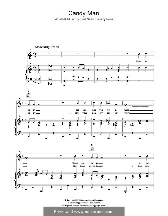 Candy Man (Roy Orbison): Para vocais e piano (ou Guitarra) by Beverly Ross, Fred Neil