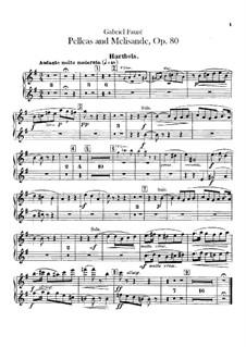 Pelléas et Mélisande, Op.80: parte Oboe by Gabriel Fauré