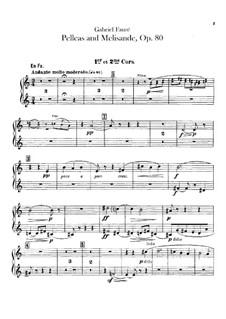 Pelléas et Mélisande, Op.80: parte trompas by Gabriel Fauré