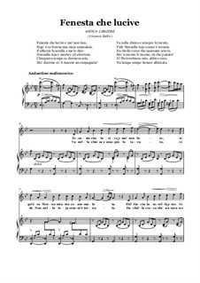 Finestra che lucevi: For voice and piano (G minor) by Vincenzo Bellini