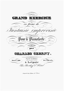Grande Exercice en Forme de Fantaisie Improvisée, Op.348: Grande Exercice en Forme de Fantaisie Improvisée by Carl Czerny