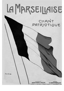 Marseilles Hymn: Para Piano by Claude Joseph Rouget de Lisle