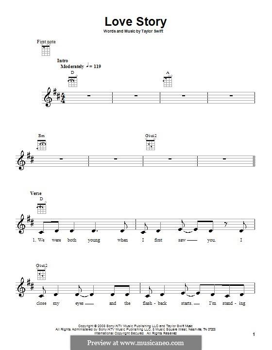 Love Story: para ukulele by Taylor Swift