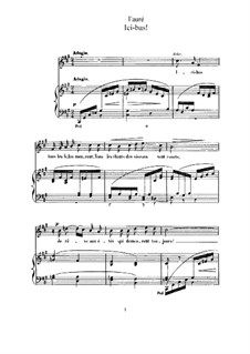 Three Songs, Op.8: No.3 Ici-bas (F Sharp Minor) by Gabriel Fauré