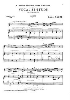 Vocalise-étude: E Minor by Gabriel Fauré