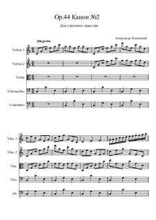 Canon No.2, Op.44: para orquetra de cordas by Ksardas