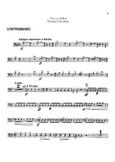 Overture: Parte contrabaixo by Vincenzo Bellini