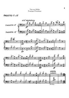 Overture: fagotes partes I-II by Vincenzo Bellini