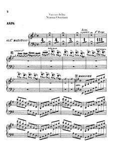 Overture: parte harpa by Vincenzo Bellini