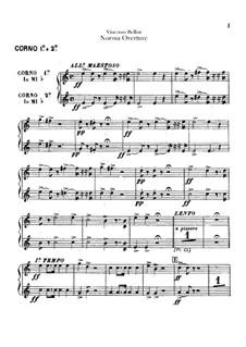 Overture: parte trompas by Vincenzo Bellini